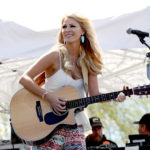 LAS VEGAS, NV - APRIL 01:  Musician Jennifer Wayne of Runaway June performs onstage at the ACM Party For A Cause: Tailgate Party on April 1, 2017 in Las Vegas, Nevada.  (Photo by Gabe Ginsberg/Getty Images for ACM)