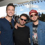 LAS VEGAS, NV - APRIL 01:  Musicians Eric Gunderson Love and Theft, DJ DU and Stephen Barker Liles of Love and Theft at the ACM Party For A Cause: Tailgate Party on April 1, 2017 in Las Vegas, Nevada.  (Photo by Rick Diamond/Getty Images for ACM)