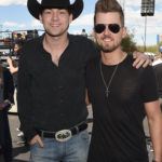 LAS VEGAS, NV - APRIL 01:  Musicians William Michael Morgan (L) and Chase Bryant at the ACM Party For A Cause: Tailgate Party on April 1, 2017 in Las Vegas, Nevada.  (Photo by Rick Diamond/Getty Images for ACM)