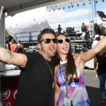 LAS VEGAS, NV - APRIL 01:  Record prodcer DJ DU (L) and singer Jessa at the ACM Party For A Cause: Tailgate Party on April 1, 2017 in Las Vegas, Nevada.  (Photo by Rick Diamond/Getty Images for ACM)