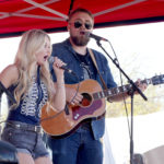 LAS VEGAS, NV - APRIL 01:  Musician Stephanie Quayle (L) performs onstage at the ACM Party For A Cause: Tailgate Party on April 1, 2017 in Las Vegas, Nevada.  (Photo by Gabe Ginsberg/Getty Images for ACM)