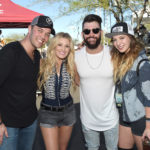 LAS VEGAS, NV - APRIL 01:  (L-R) Musicians Lucas Hoge, Stephanie Quayle,  Dylan Scott, and Olivia Lane at the ACM Party For A Cause: Tailgate Party on April 1, 2017 in Las Vegas, Nevada.  (Photo by Rick Diamond/Getty Images for ACM)